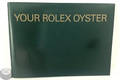 Rolex booklet your rolex oyster