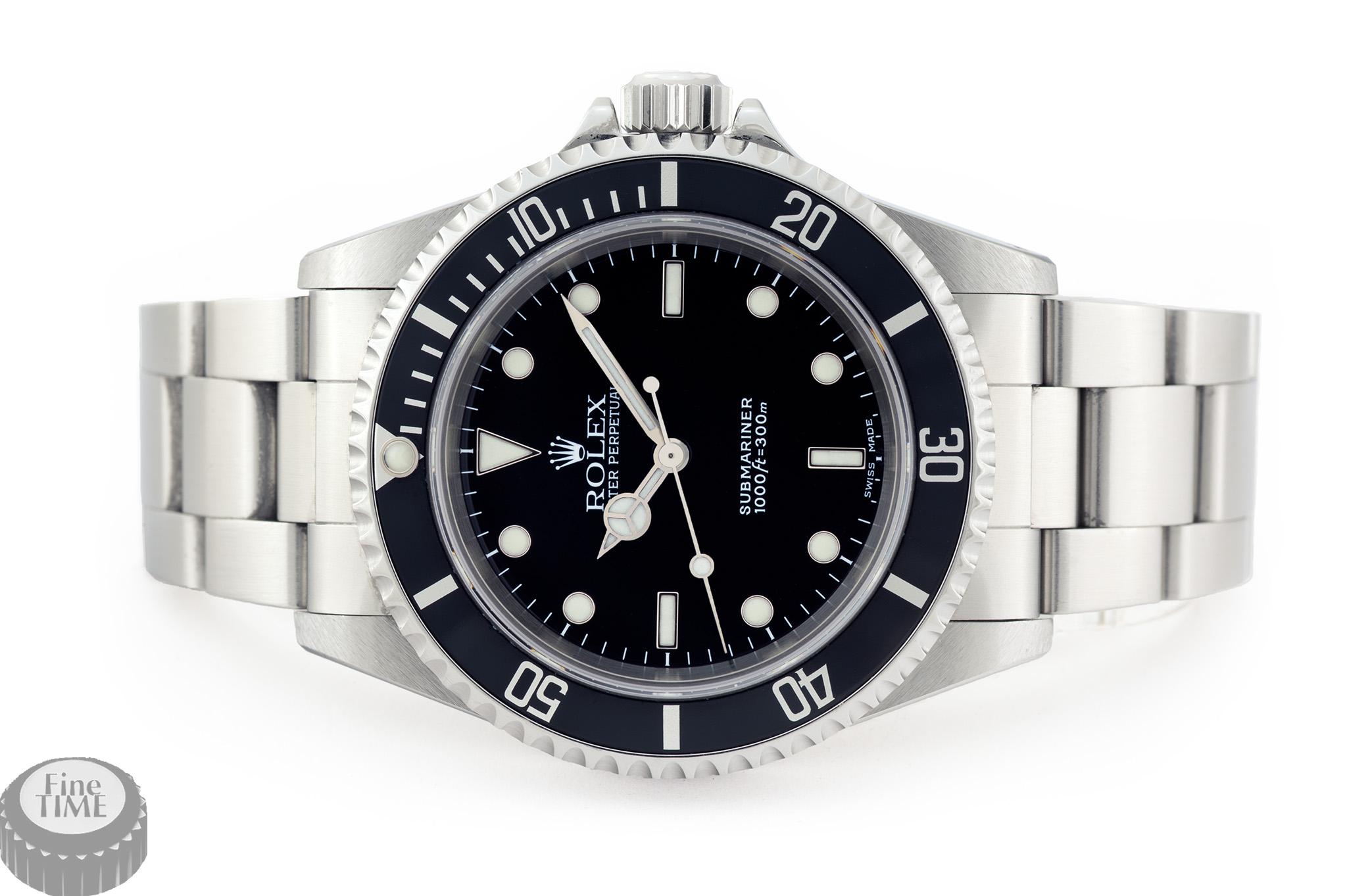 Rolex Submariner 14060M Y serie dial